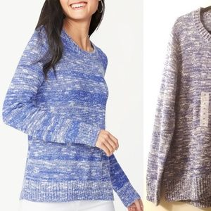 Old Navy Blue Marled Crew Neck Sweater NWT